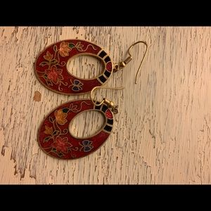 Oriental design earrings